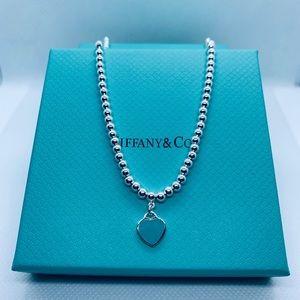 Tiffany heart bead necklace